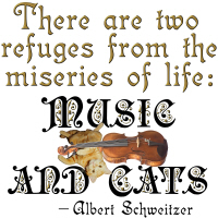 cats and music and cats