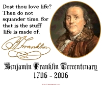 Benjamin Franklin Time Quote