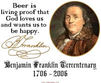 Benjamin Franklin on Beer