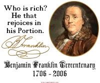 Ben Franklin on Riches