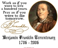 Ben Franklin Work & Pray