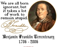 Ben Franklin on Ignorance