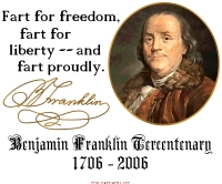 Ben Franklin Fart Proudly