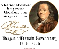 Ben Franklin on Blockheads