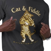 Cat Fiddle t-shirts