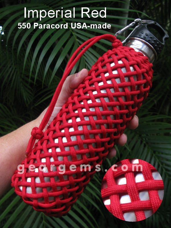 survival paracord turks head bottles