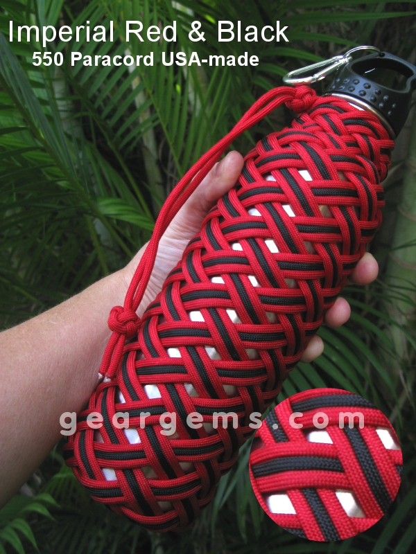 survival paracord turkshead bottles